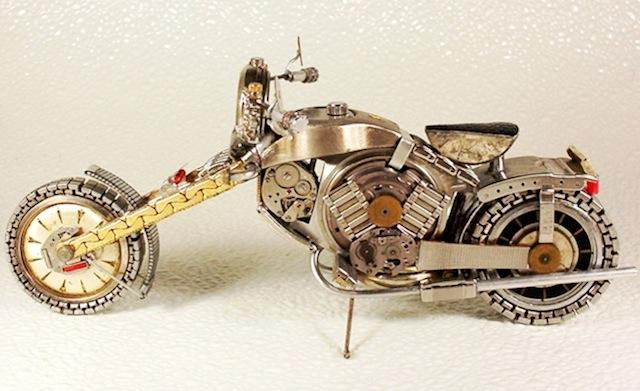 oude polshorloge naar motor