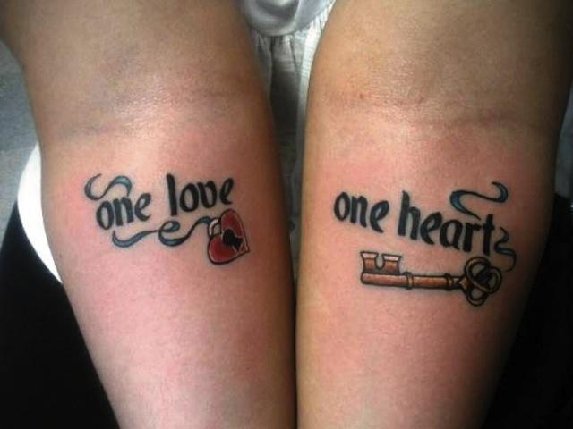 Uitzonderlijk 20 Schattige Matching Tattoos Voor Stellen @LQ35