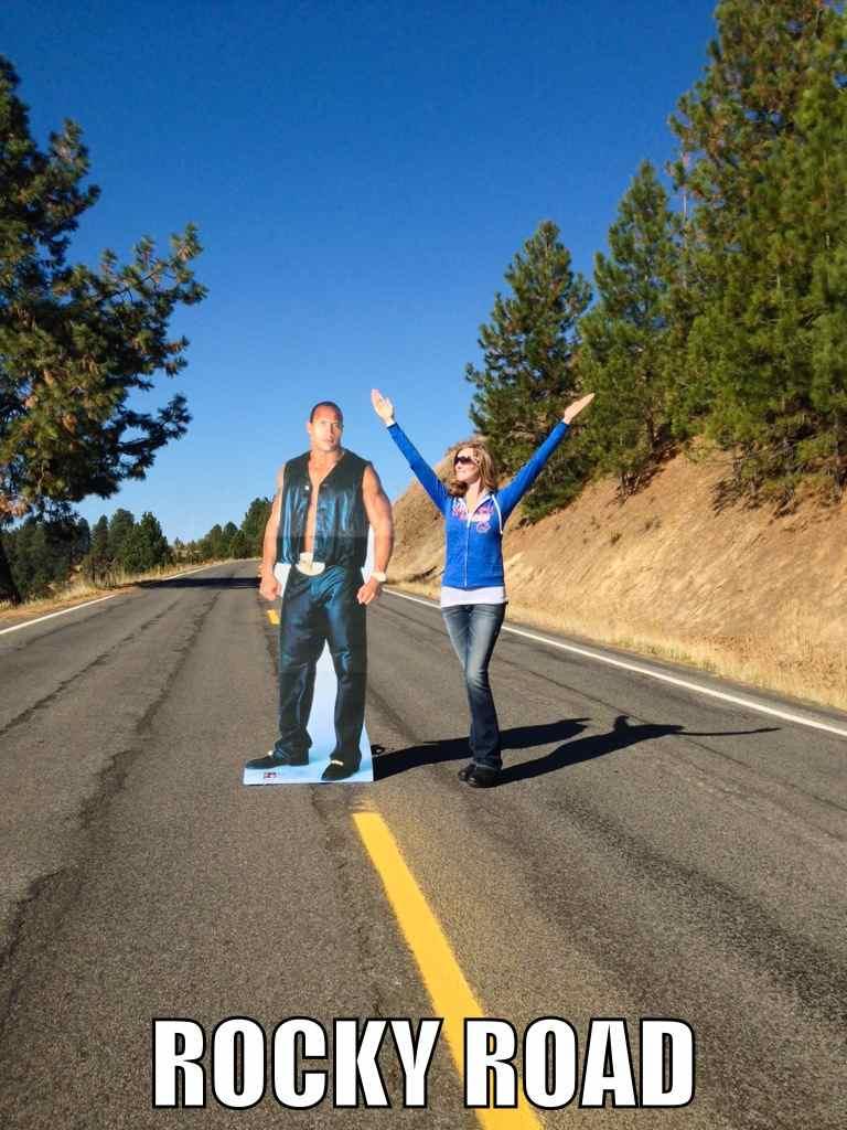 Rock op de weg