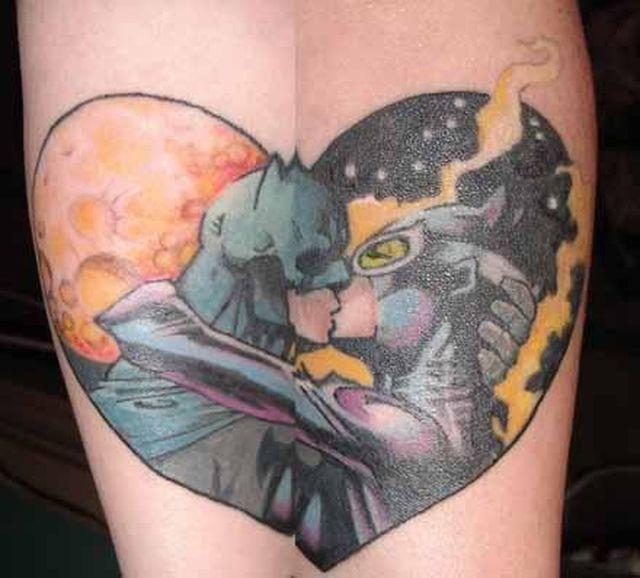 Batmanen Catwoman Matching Tattoos