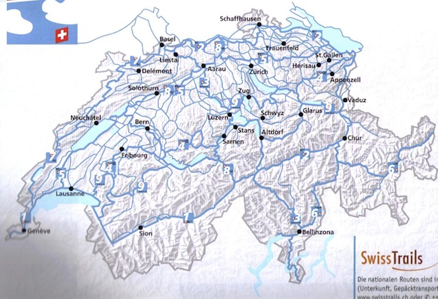 Fietsroute Zwitserland