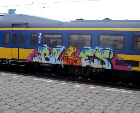 Graffiti op NS treinen