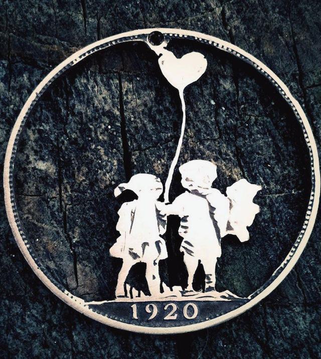 Lieve kindjes met hartvormig ballon gemaakt in munteb