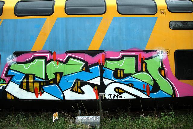 CTR graffiti op NS treinen