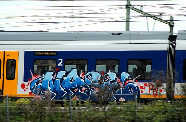Nase Graffiti op Ns treinen