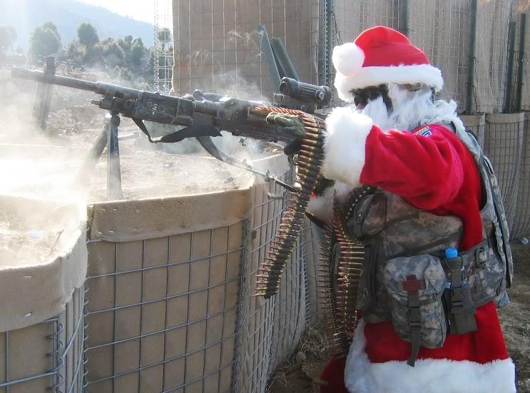 Ongepaste kerstmannen; Schietende Kerstman
