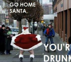 Ongepaste kerstmannen: potlood kerstman
